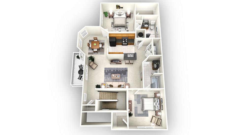 Atlanta floor plan | Apartments In Savannah GA | Olympus Fenwick