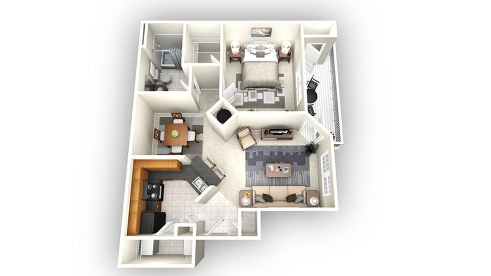 Barcelona floor plan | Apartments In Savannah GA | Olympus Fenwick