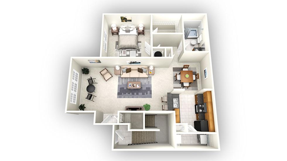 Berlin floor plan | Apartments In Savannah GA | Olympus Fenwick
