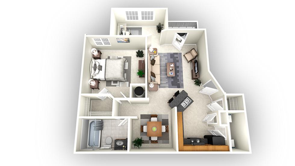 Bordeaux floor plan | Apartments In Savannah GA | Olympus Fenwick