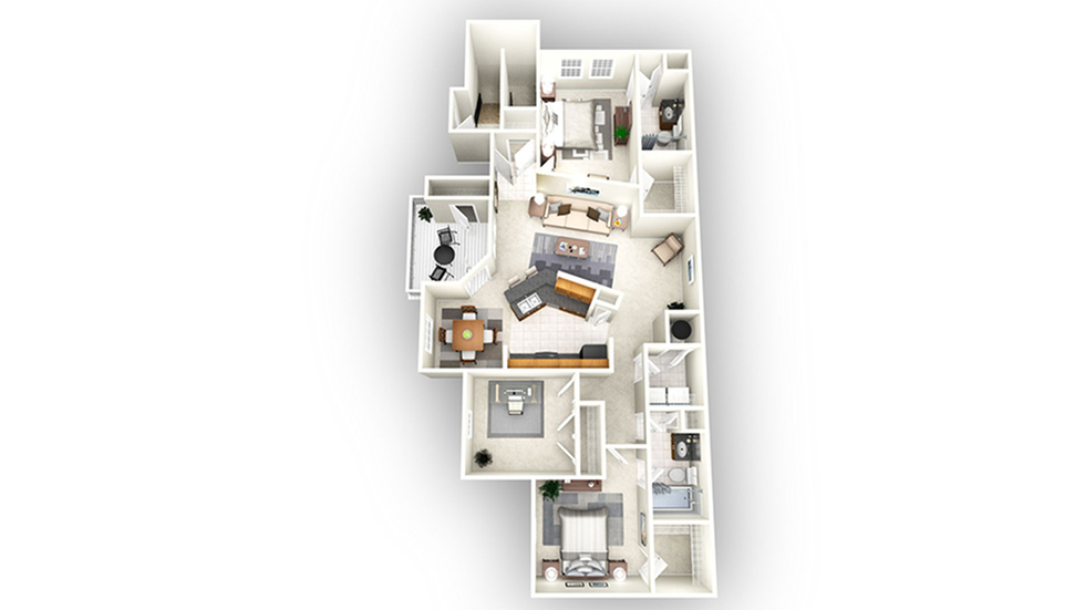 Sydney floor plan | Apartments In Savannah GA | Olympus Fenwick