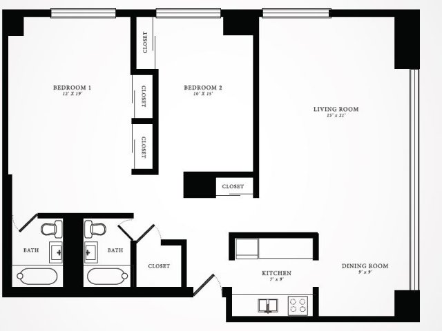 Floor Plan 8 | 1350 Lake Shore Drive