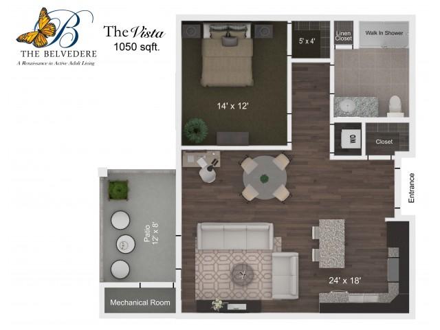 The Belvedere Vista floorplan