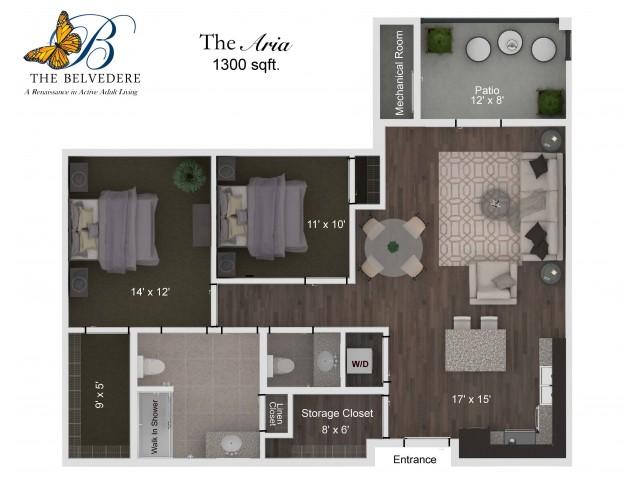 The Belvedere Aria floorplan