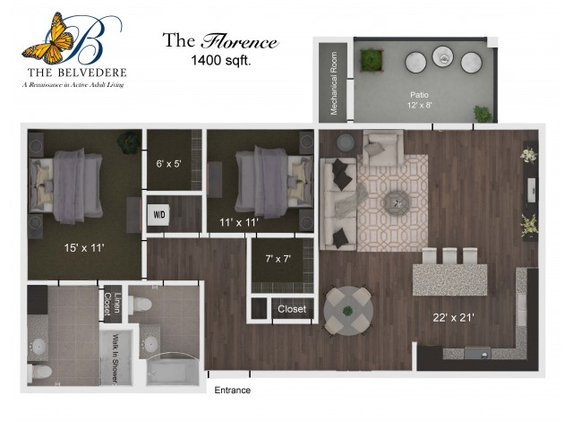 The Belvedere Florence floorplan