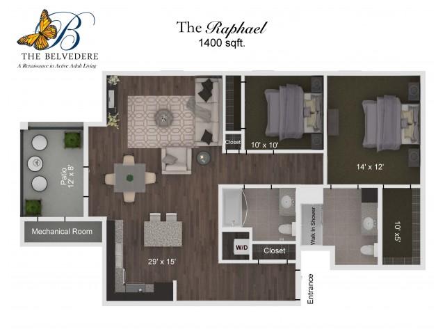 The Belvedere Raphael floorplan