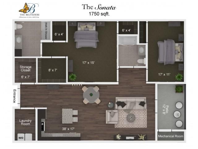 The Belvedere Sonata floorplan