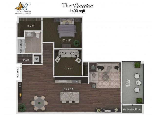 The Belvedere Venetian floorplan