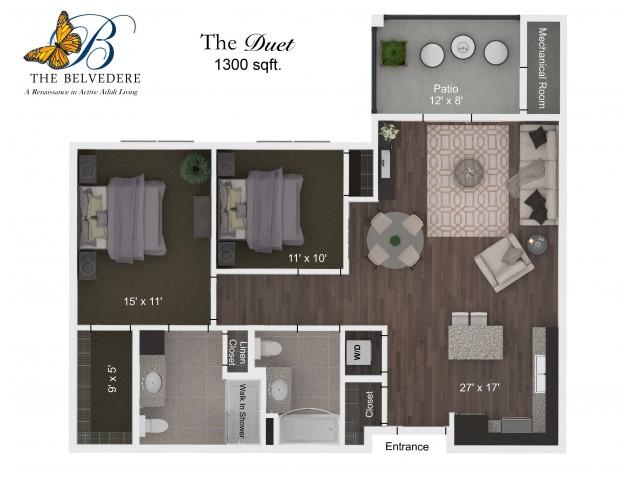 The Belvedere Duet floorplan