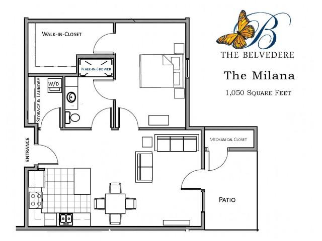 The Belvedere milana floorplan