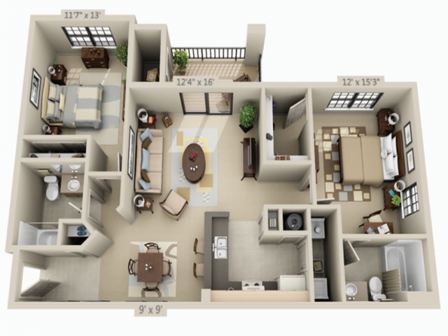 All Floor Plansphase Ii Two Bedroom