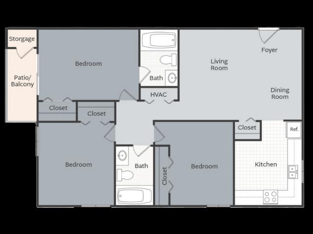 3 Bedroom Apartment Little Rock AR