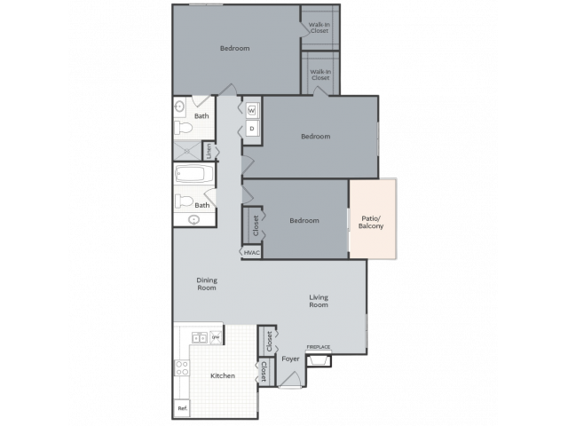The Terrace - 1355 square feet