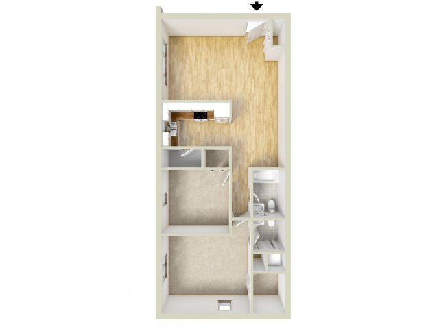 Allandale two bedroom floor plan