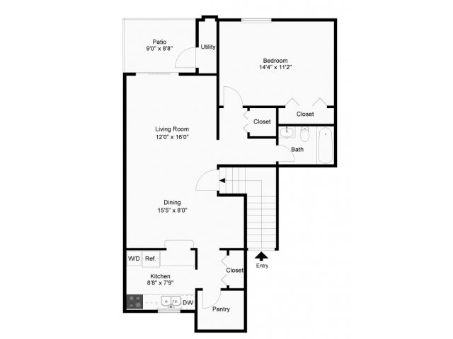 1 Bed 1 Bath Apartment In West Chester Pa Wyntre
