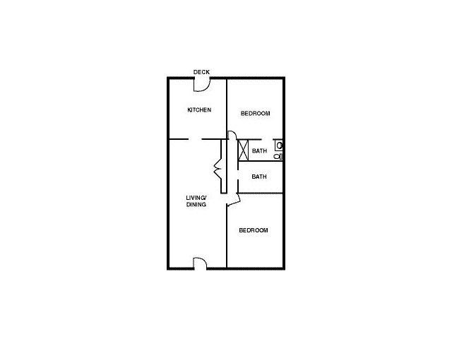 2D Floor Plan image for the 2 Bedroom Flat Floor Plan of Property Warringwood Heights