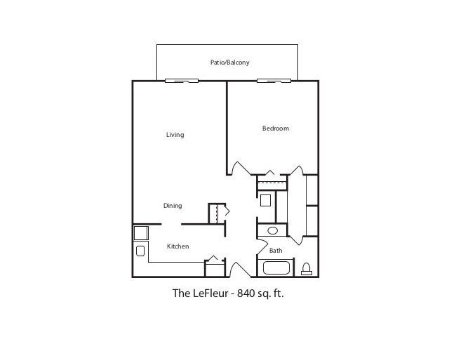 1 bed 1 bath apartment in jackson ms towne hill new for Floor plans jackson ms
