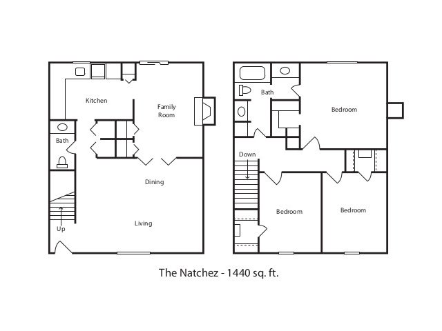 3 bed 1 5 bath apartment in jackson ms towne hill new for Floor plans jackson ms