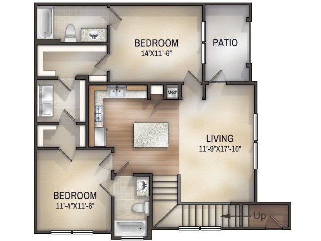 Chambray II Unfurnished Floor Plan