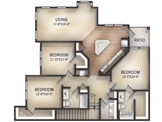Herringbone II Unfurnished Floor Plan