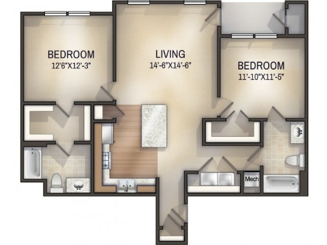 Moroccan I Unfurnished Floor Plan