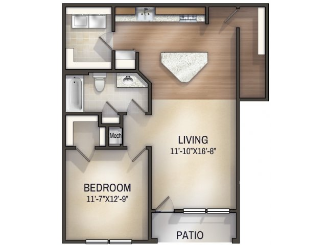 Paisley I Unfurnished Floor Plan