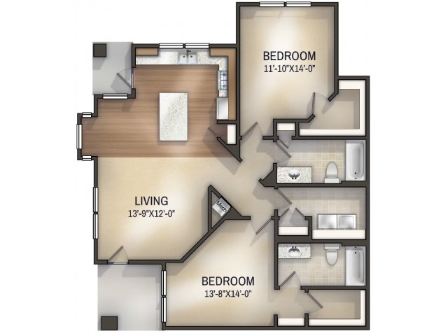 Palmette I Unfurnished Floor Plan