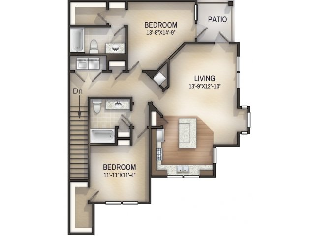 Palmette II Unfurnished Floor Plan