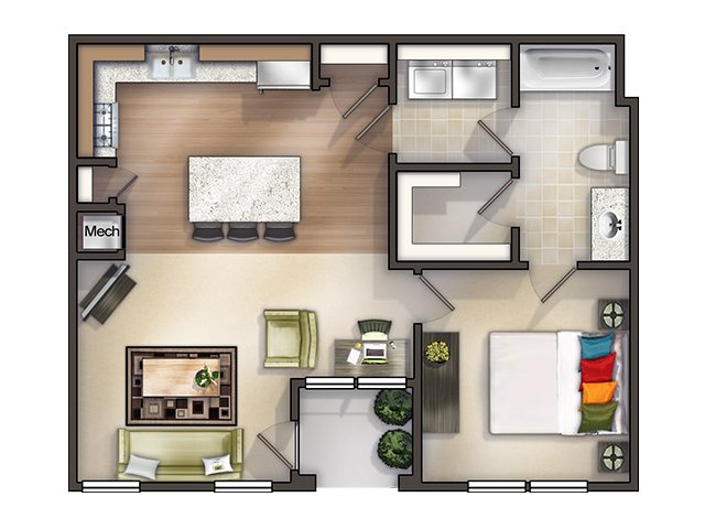 Argyle I Furnished Floor Plan