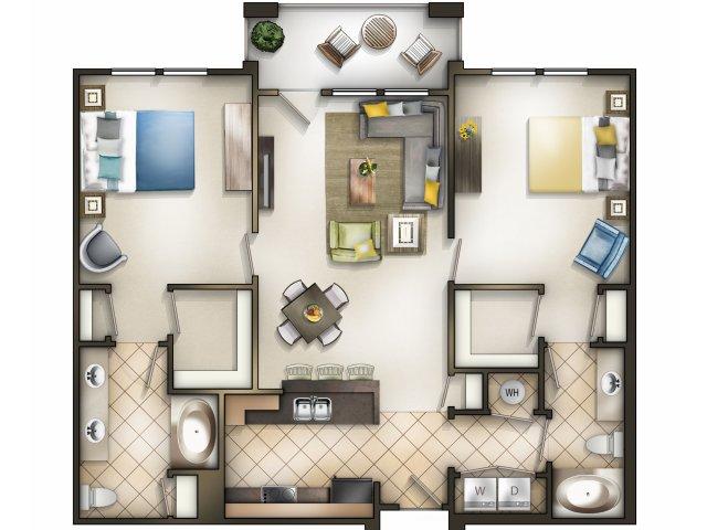Cosmopolitan: 2 Bedroom