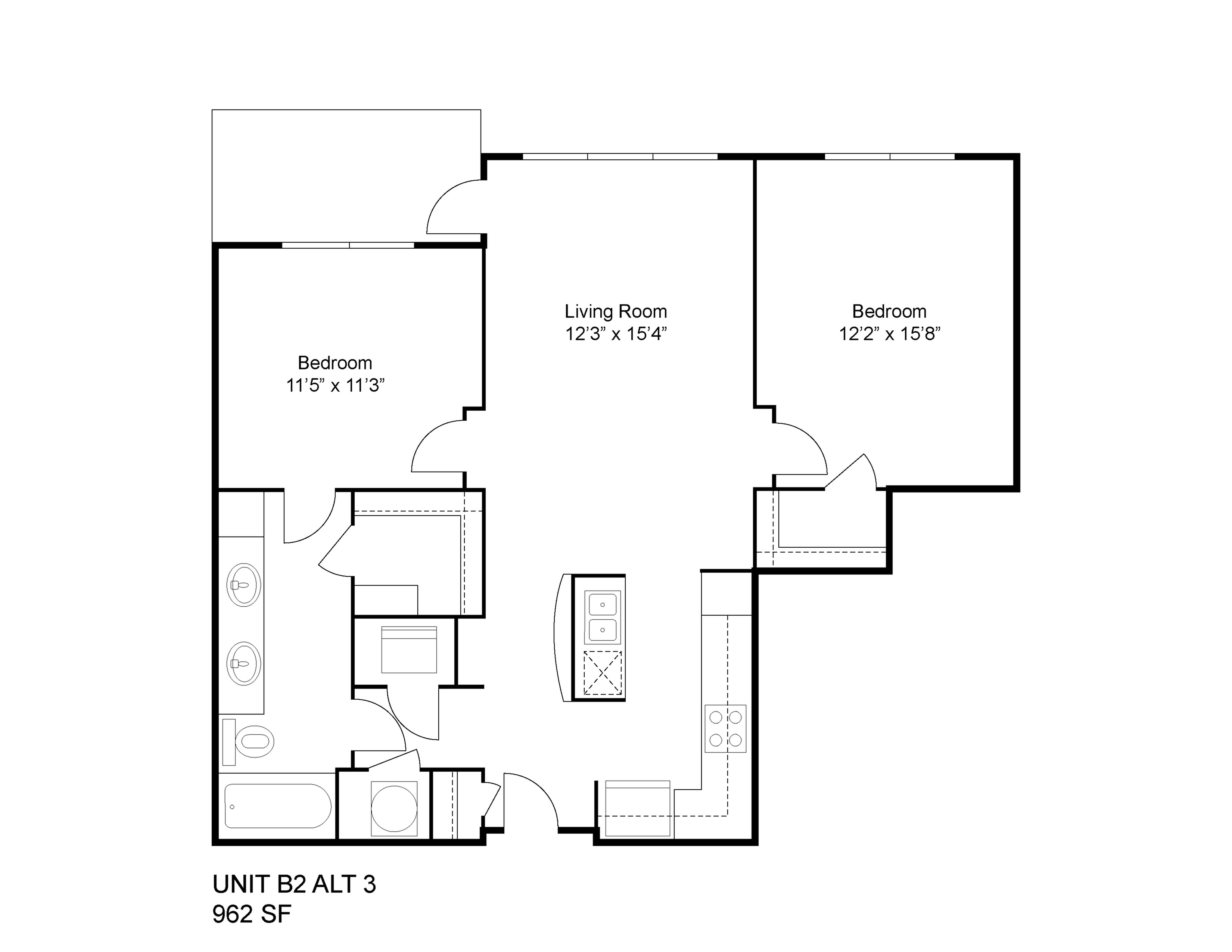 2 bed 2 bath apartment in jackson ms the district lofts for Floor plans jackson ms