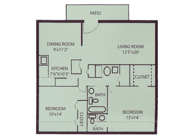 2 Bed 15 Bath Apartment in Richmond VA COURTHOUSE GREEN