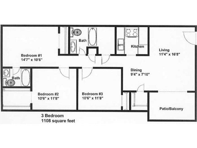 All|Floor Plans3 Bedroom