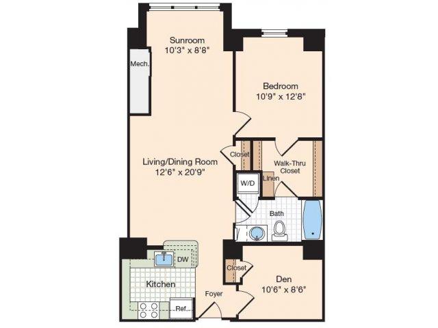 one bedroom apartments in alexandria va meridian at