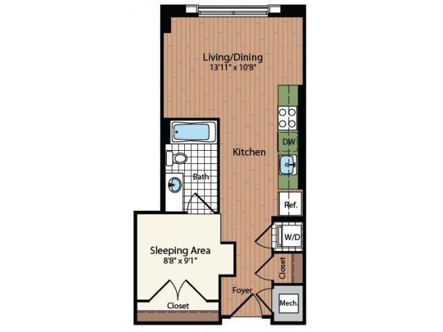 Floor Plan | Meridian at Mt Vernon Triangle