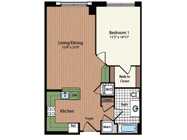 Floor Plan 15 | Meridian at Mt Vernon Triangle