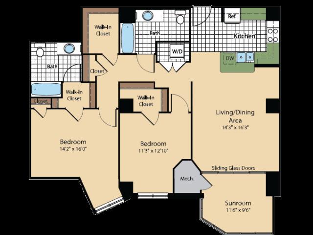 Floor Plan | Meridian at Gallery Place 6