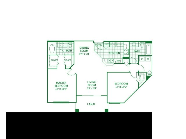 2D Floor Plan image for the The Cordoba Floor Plan of Property Camino Real