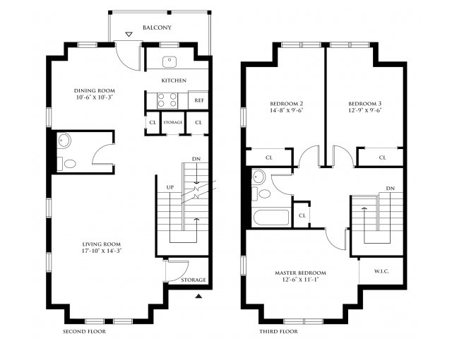 2 Bedroom 2 Bath Duplex Floor Plans Floors Doors