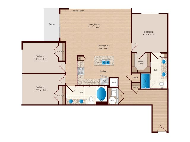 1 - 3 Bed Apartments : Mosaic Westshore