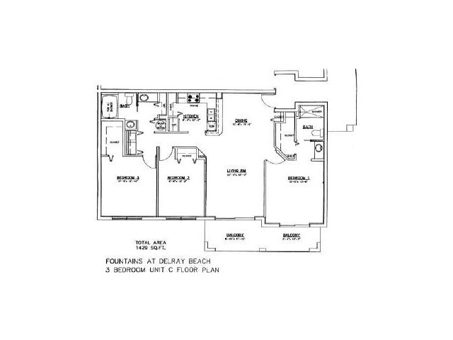 3 Bed 2 Bath Apartment In Delray Beach Fl The Fountains At Delray Beach