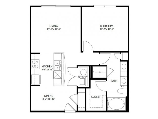 One Bedroom one bath for rent Parkside at Legacy Plano Texas
