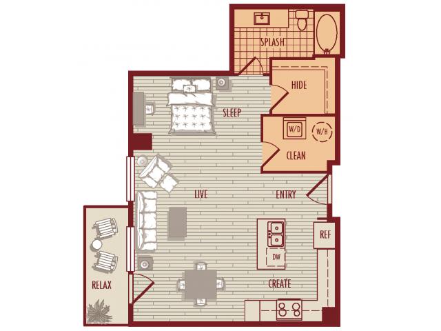 One Bedroom Studio Loft