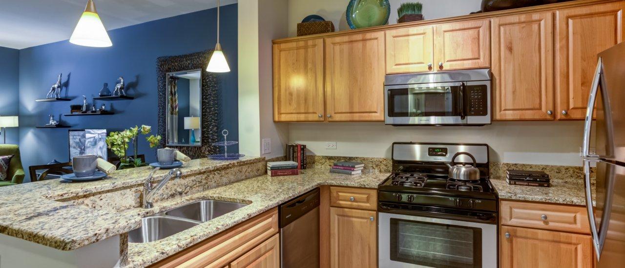 Kitchen at Reserve at Evanston