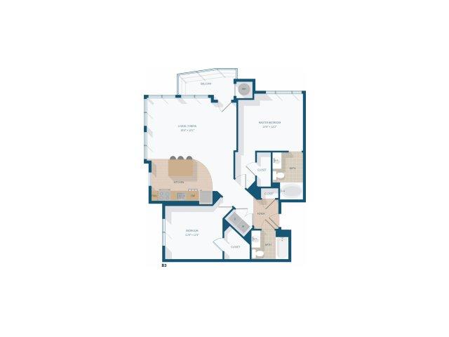 2 Bedroom - B3 - 1157 Square Feet