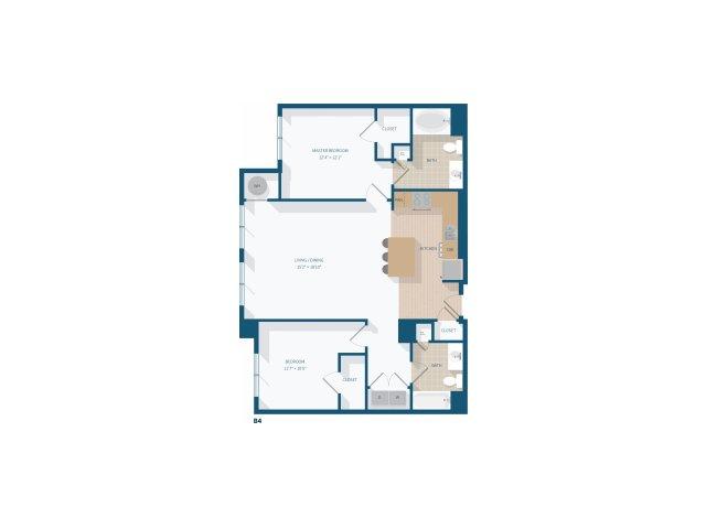 2 Bedroom - B4 - 1166 Square Feet