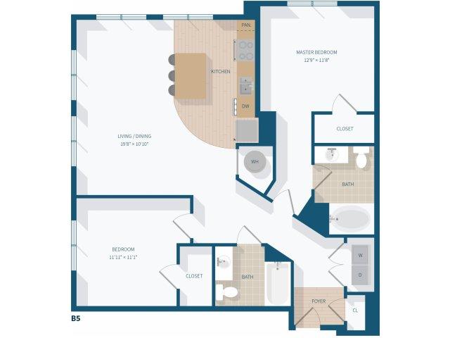 2 Bedroom - B5 - 1186 Square Feet