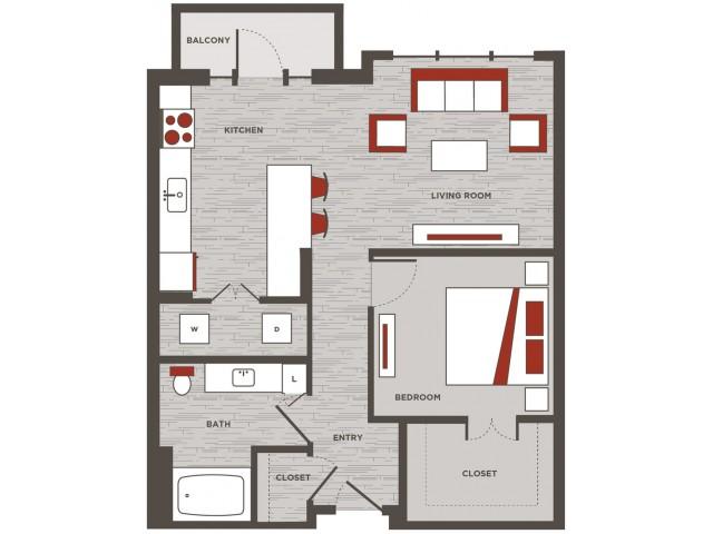 Live Work Unit / One bedroom, One bathroom