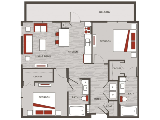 Live Work Unit / Two Bedroom, Two Bathroom