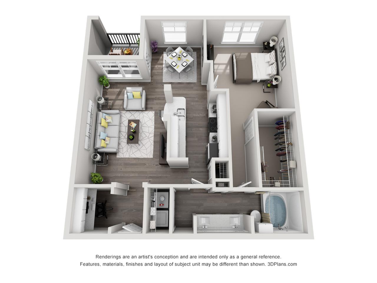 One bedroom apartment in Perimeter Atlanta